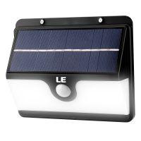Solarleuchte mit Bewegungsmelder, 6W Wandleuchte, Außenleuchte Wasserfest, Solarbetrieben Nachlicht, 2 Lichtmodi, Kaltweiß